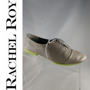 RACHEL ROY DEANDRAH Grey Leather Oxfords 6